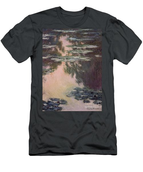 Waterlilies With Weeping Willows Men's T-Shirt (Athletic Fit)