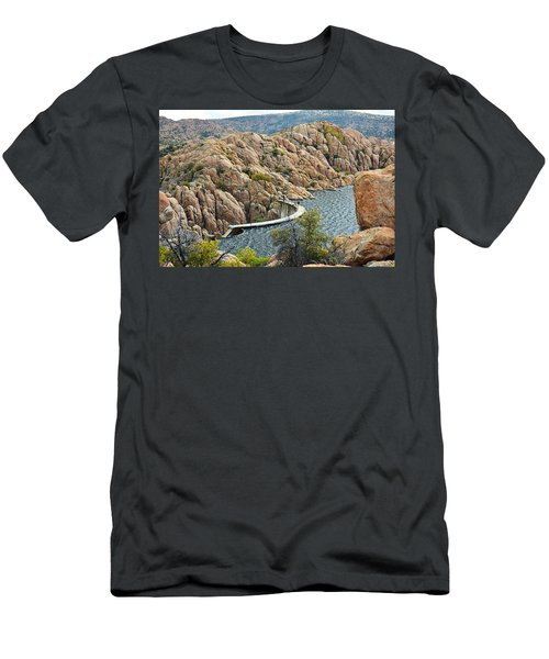 Watson Lake Dam Men's T-Shirt (Athletic Fit)