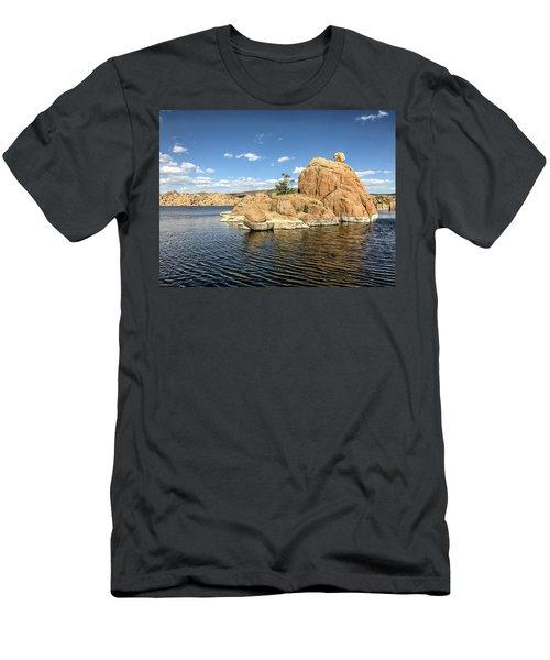 Watson Lake Rock Island Men's T-Shirt (Athletic Fit)