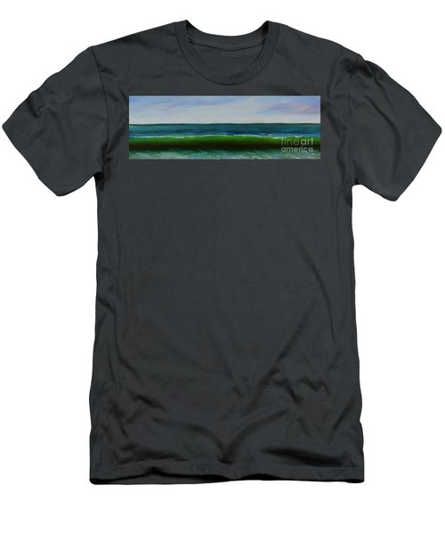 Men's T-Shirt (Athletic Fit) featuring the painting Wave by Mary Scott