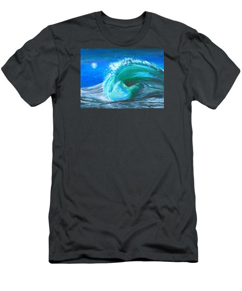 Wave Men's T-Shirt (Slim Fit) by Veronica Rickard