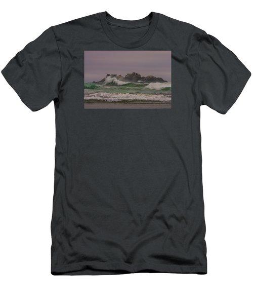 Waves 1 Men's T-Shirt (Slim Fit) by Ulrich Burkhalter