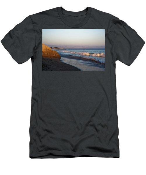 Waves At Santa Cruz Men's T-Shirt (Athletic Fit)