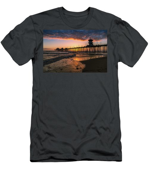 Waves At Sunset Men's T-Shirt (Athletic Fit)