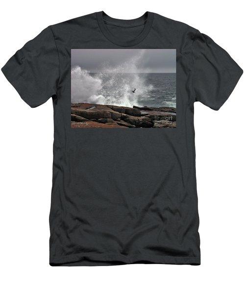 Waves Crashing  Men's T-Shirt (Athletic Fit)