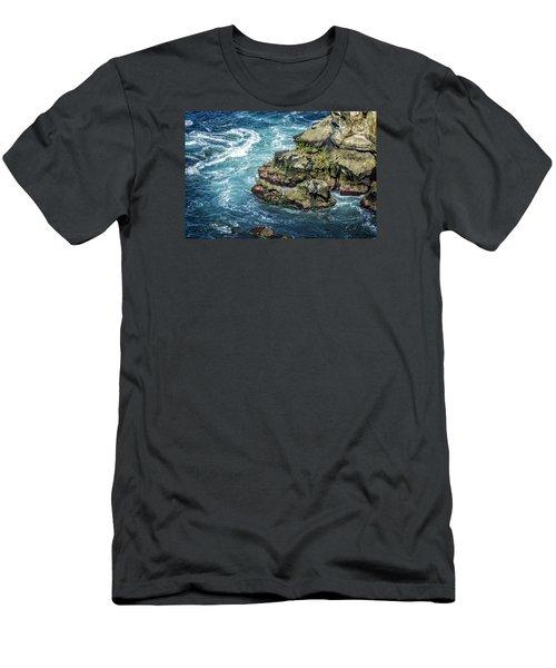 Waves Of Blue Men's T-Shirt (Athletic Fit)