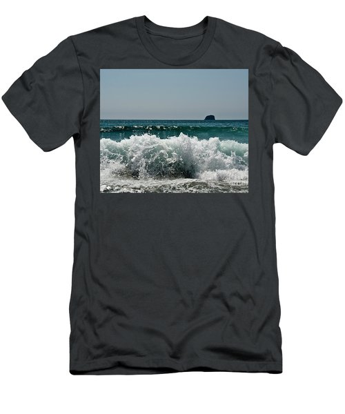 Men's T-Shirt (Slim Fit) featuring the photograph Waves Of Pacific Ocean. Coromandel,new Zealand by Yurix Sardinelly