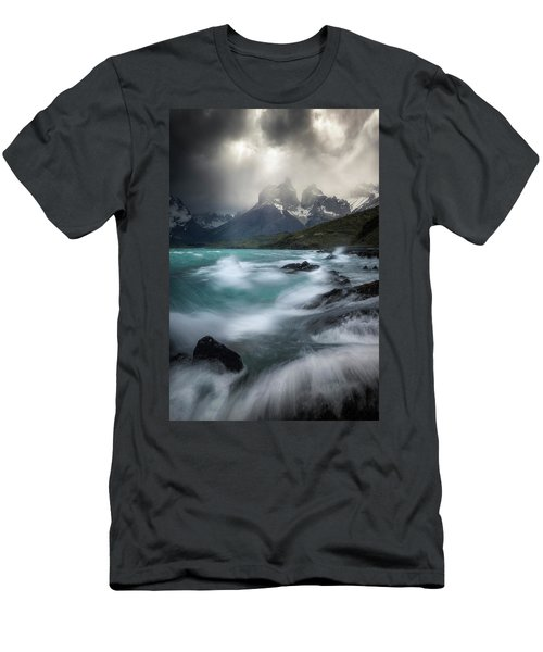 Waves On Waves Men's T-Shirt (Athletic Fit)