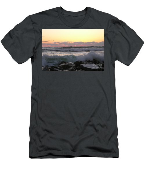 Waves Over The Rocks  5-3-15 Men's T-Shirt (Athletic Fit)