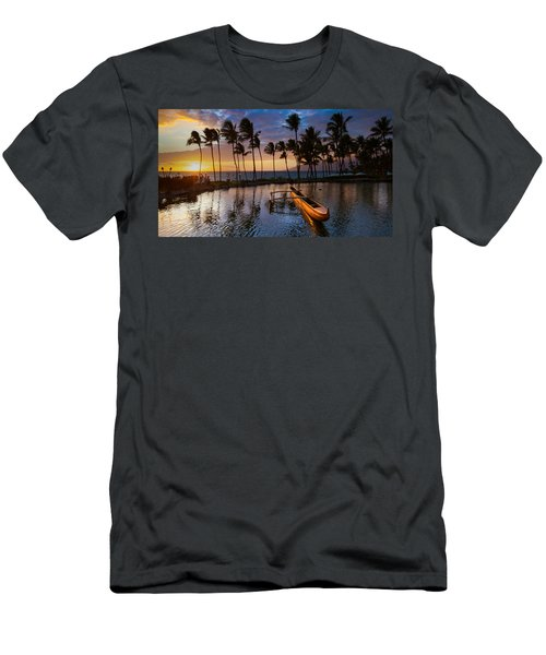 Waving Palms Men's T-Shirt (Athletic Fit)