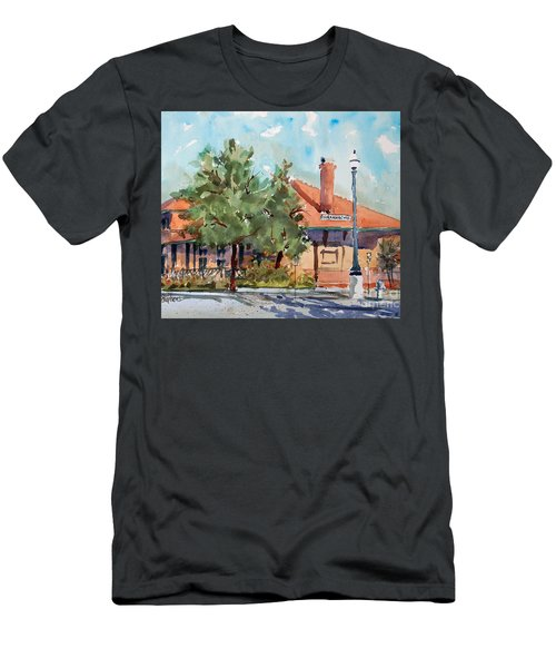 Waxachie Train Station Men's T-Shirt (Slim Fit) by Ron Stephens