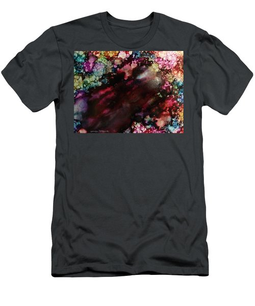 Men's T-Shirt (Athletic Fit) featuring the painting Way Out by Denise Tomasura