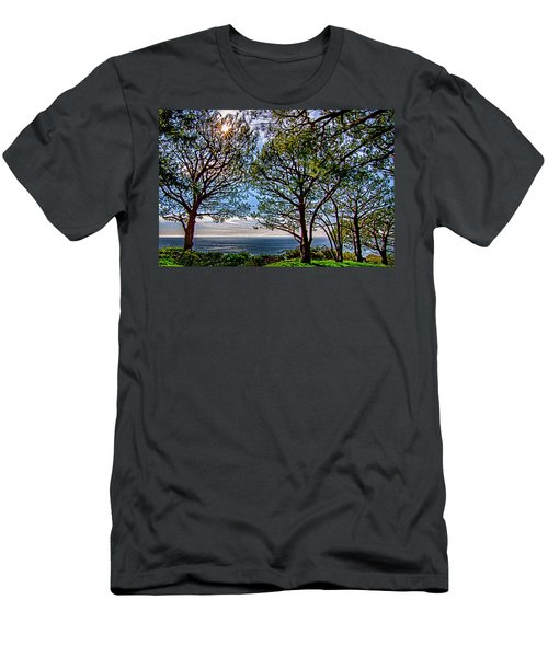 Men's T-Shirt (Slim Fit) featuring the photograph Wayfarer's  Ocean View by Joseph Hollingsworth
