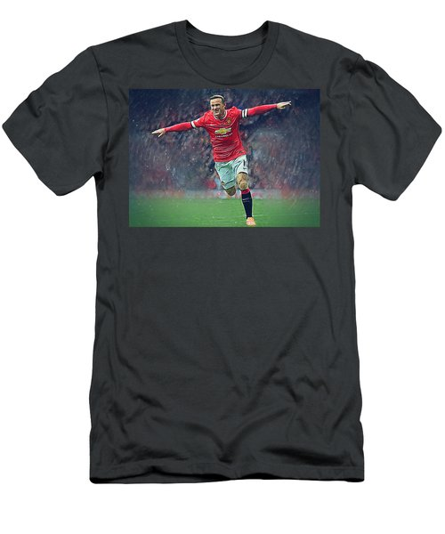 Wayne Rooney Men's T-Shirt (Slim Fit) by Semih Yurdabak