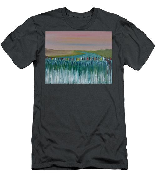 Men's T-Shirt (Slim Fit) featuring the painting We Are All The Same 1.3 by Tim Mullaney