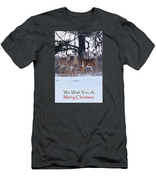 We Wish You A Merry Christmas Men's T-Shirt (Athletic Fit)