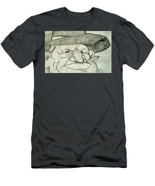 Weathered Old Man Men's T-Shirt (Athletic Fit)