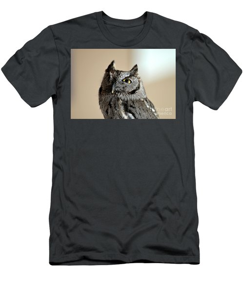Wee Western Screech Owl Men's T-Shirt (Athletic Fit)