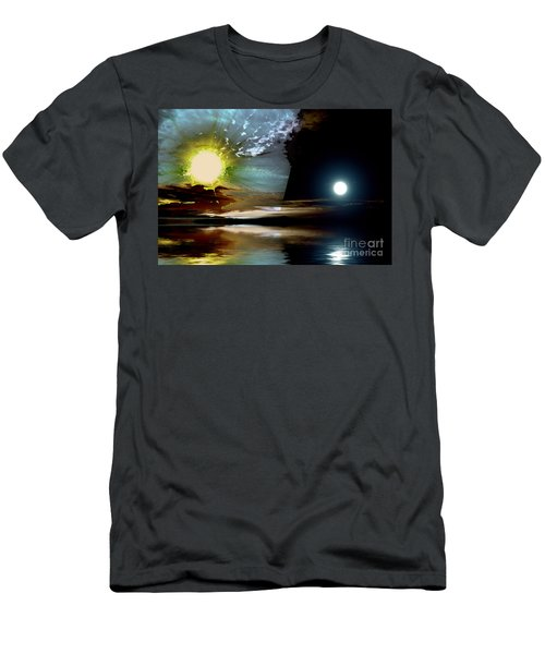 Welcome Beach Day And Night Men's T-Shirt (Athletic Fit)