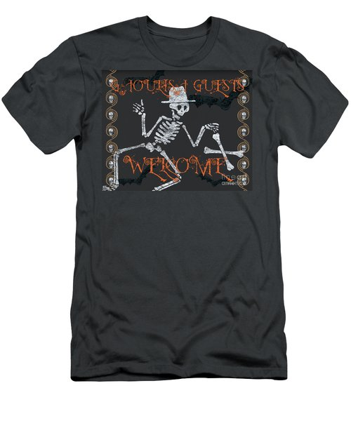 Welcome Ghoulish Guests Men's T-Shirt (Athletic Fit)