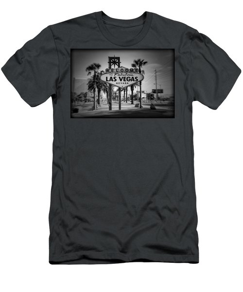 Welcome To Las Vegas Series Holga Black And White Men's T-Shirt (Athletic Fit)