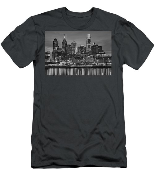 Welcome To Penn's Landing Bw Men's T-Shirt (Athletic Fit)