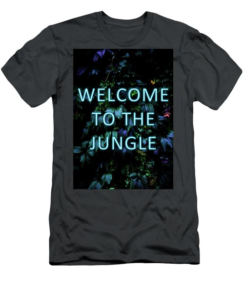 Welcome To The Jungle - Neon Typography Men's T-Shirt (Athletic Fit)