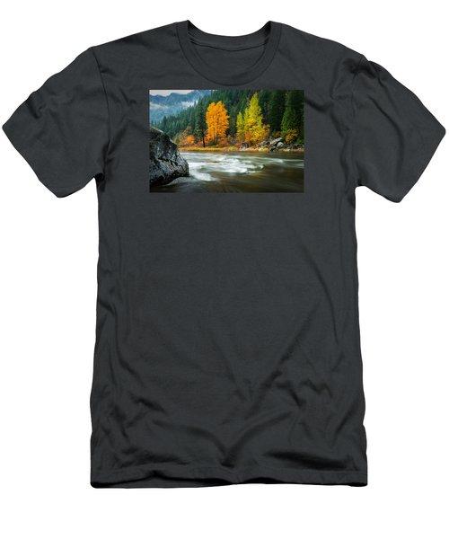 Men's T-Shirt (Slim Fit) featuring the photograph Wenatchee Riverside by Dan Mihai