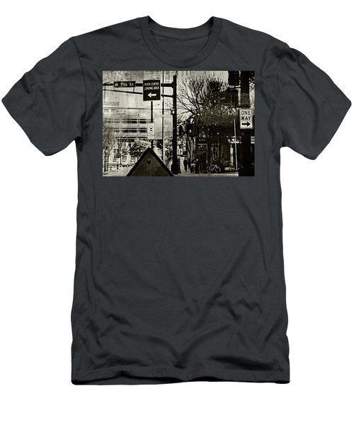 Men's T-Shirt (Slim Fit) featuring the photograph West 7th Street by Susan Stone