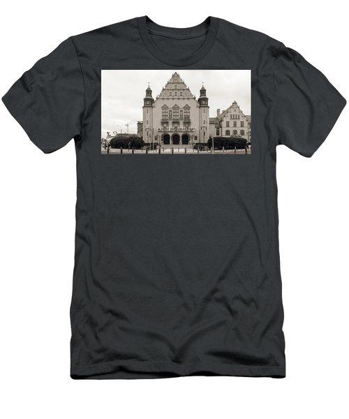 West Facade Of Adam Mickiewicz University Poznan Poland Men's T-Shirt (Athletic Fit)