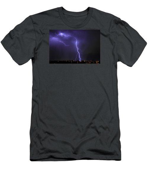 West Jordan Lightning 3 Men's T-Shirt (Slim Fit) by Paul Marto