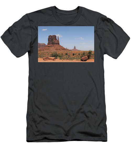 West Mitten Butte Monument Valley Men's T-Shirt (Athletic Fit)