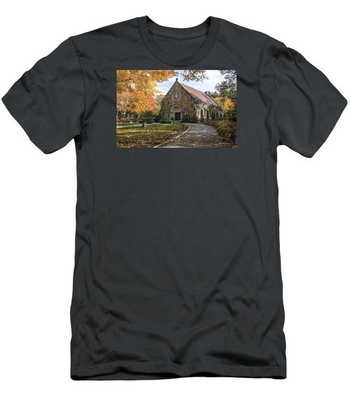 West Parish Chapel In Fall, Andover, Ma Men's T-Shirt (Athletic Fit)