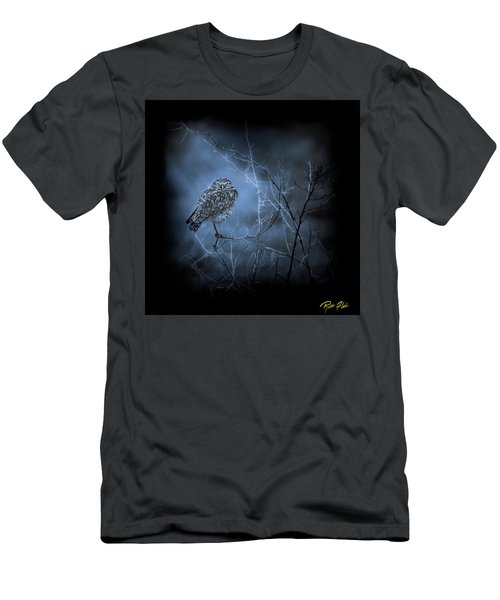 Men's T-Shirt (Athletic Fit) featuring the photograph Western Owl Gloom by Rikk Flohr