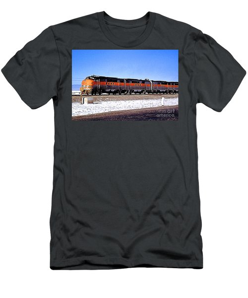 Western Pacific Diesel Locomotive Trainset Men's T-Shirt (Slim Fit) by Wernher Krutein