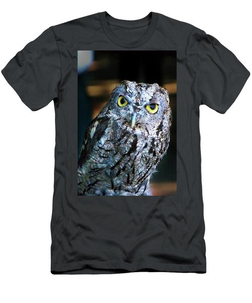 Men's T-Shirt (Slim Fit) featuring the photograph Western Screech Owl by Anthony Jones