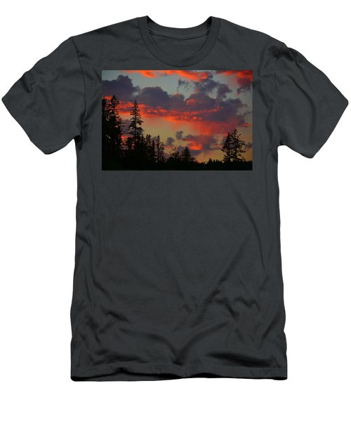 Western Sky Fire Men's T-Shirt (Athletic Fit)