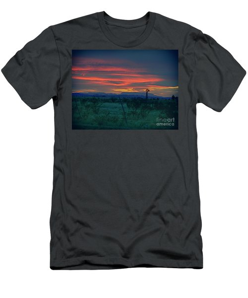 Western Texas Sunset Men's T-Shirt (Athletic Fit)