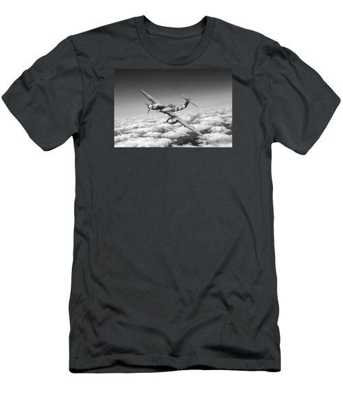 Men's T-Shirt (Slim Fit) featuring the photograph Westland Whirlwind Portrait Black And White Version by Gary Eason
