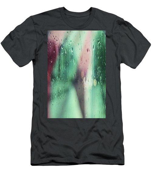 Wet Aqua Men's T-Shirt (Slim Fit) by Allen Beilschmidt