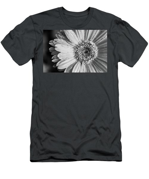 Men's T-Shirt (Athletic Fit) featuring the photograph Wet Daisy In Monochrome by SR Green