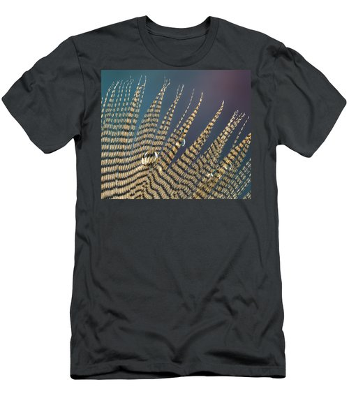 Wet Drop On Wood Duck Feather Men's T-Shirt (Athletic Fit)