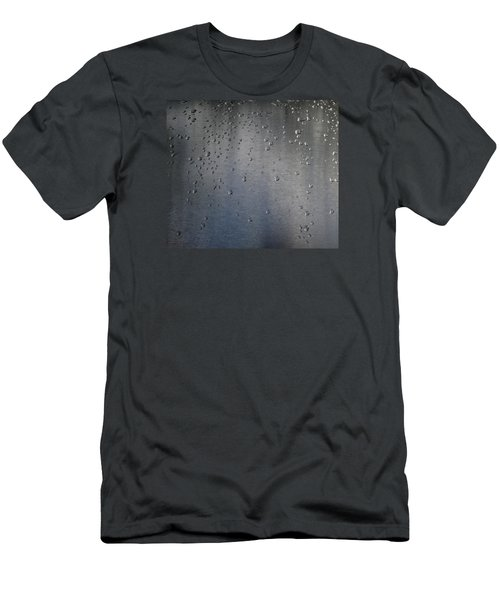 Men's T-Shirt (Slim Fit) featuring the photograph Wet Stainless Steel by Lyle Crump