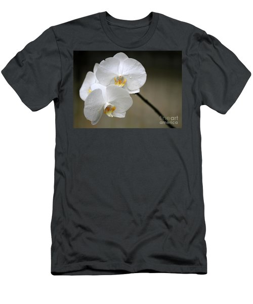 Wet White Orchids Men's T-Shirt (Athletic Fit)