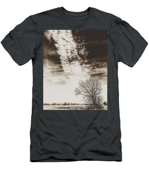 Wetlands Meet Chemtrails Men's T-Shirt (Athletic Fit)