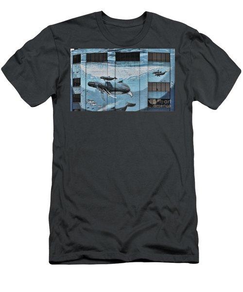 Whale Deco Building  Men's T-Shirt (Slim Fit) by Chuck Kuhn