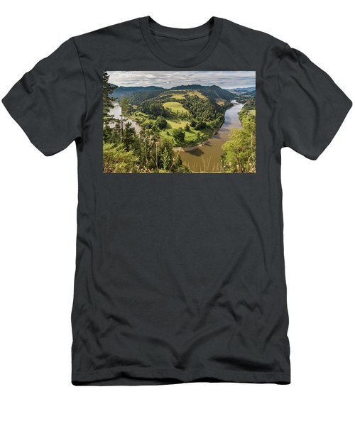 Men's T-Shirt (Athletic Fit) featuring the photograph Whanganui River Bend by Gary Eason