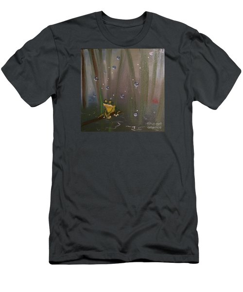 Men's T-Shirt (Slim Fit) featuring the painting What by Denise Tomasura