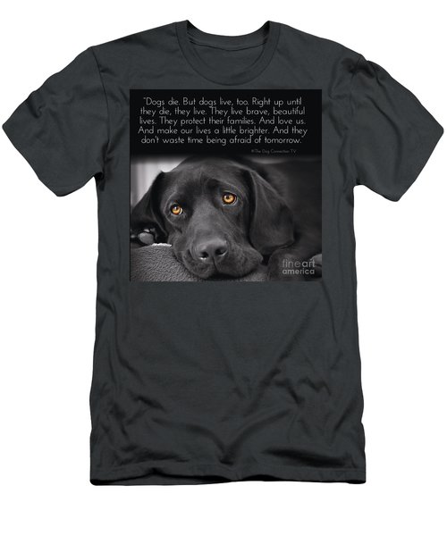 When Dogs Die Men's T-Shirt (Athletic Fit)