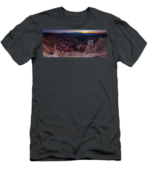 Men's T-Shirt (Athletic Fit) featuring the photograph When The Light Was Born by Edgars Erglis